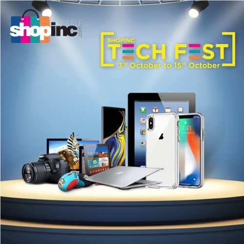 SHOPINC TECH FEST. Get the widest range of smartphone, laptops, electronic items and accessories at the most economical price in town..