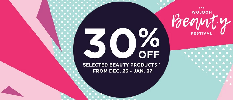 30% off selected items!! From 26 Dec - 27 Jan in Wojooh stores across Dubai and www.wojooh.com