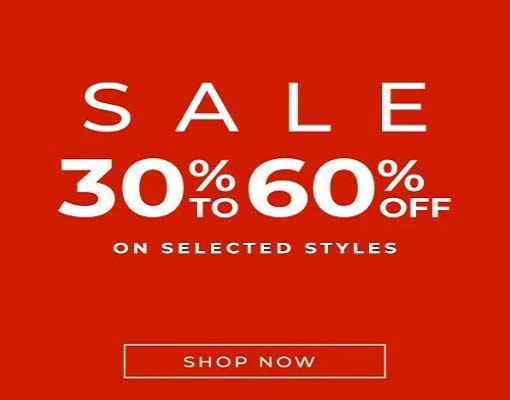 Sale 30% - 60% Off on Selected Styles @ Clarks