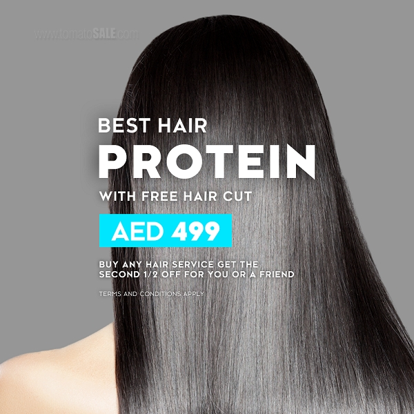 Mirrors Beauty Lounge - Best Hair Protein with Free haircut AED 499. Buy any hair service get the second 1/2 Off for you or a Friend. T&C apply