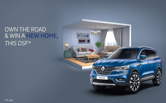 BUY A CAR, WIN A HOME!*  This DSF, offering all customers the opportunity to WIN A HOME, once they purchase a vehicle from Renault. That's right, buy a car and you're in for a chance to win a home + get GUARANTEED instant prizes.