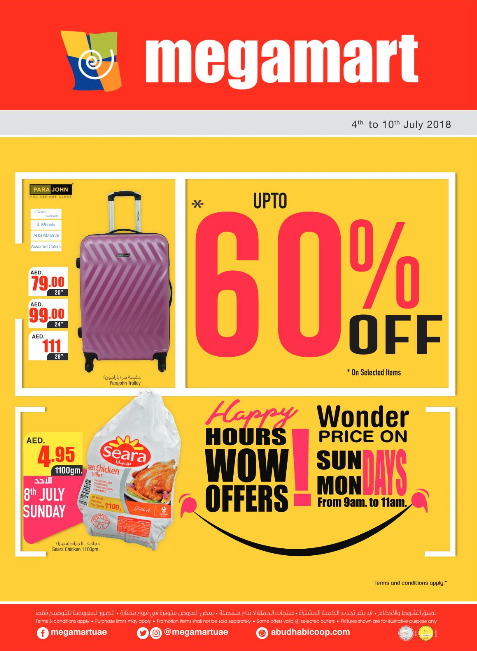 Megamart - Up to 60% Off on selected items. From 4th to 10th July 2018.