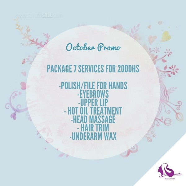 La Bonita Beauty Center - October Promo. 7 services only for AED 200!