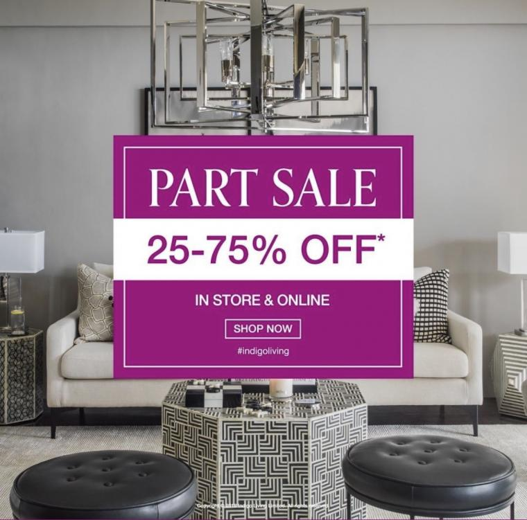Part Sale 25-75% off in store and online. Shop all your favorite products now!