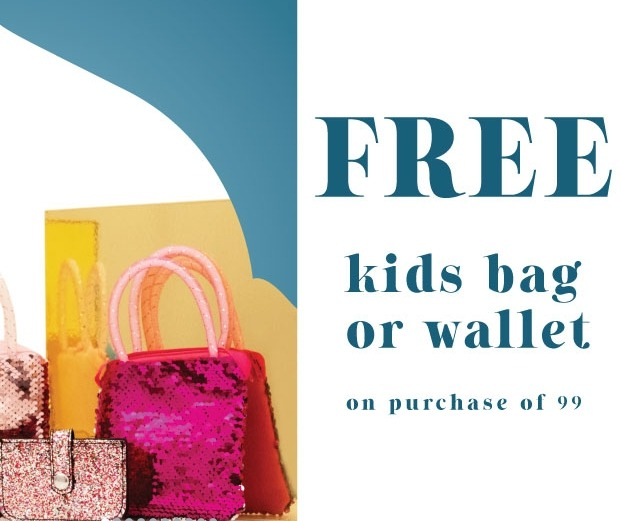 Shoexpress Ramadan Offer - Get a FREE kids bag or wallet on a purchase of 99 and above. Promotion valid from 6th May until 31st May 2019. *Terms and conditions apply.
