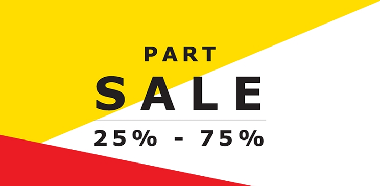 IKEA - Part Sale. 25% to 75% off.