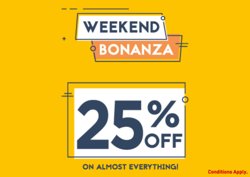 Babyshop - Weekend Bonanza. 25% Off On Almost Everything!