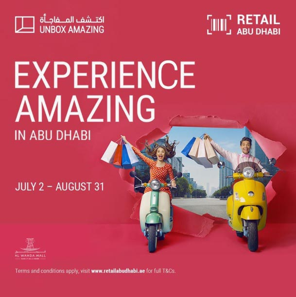 Its time to UnboxAmazing Head down to Al Wahda Mall for the most exclusive collections in the city this summer, from luxury fashion and technology, to food and beverages.