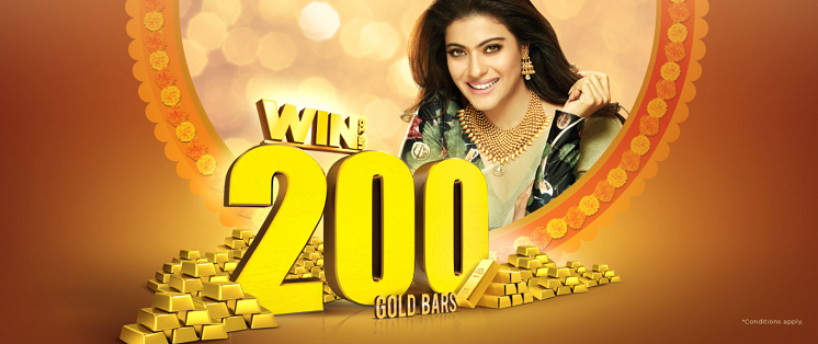 Joyalukkas - WIN UP TO 200 GOLD BARS. Buy gold jewellery worth AED 500 and get 1 raffle coupon or buy diamond jewellery worth AED 500 to get 2 raffle coupons.   FREE 1 GM Gold Coin on purchase Diamond, Polki & Pearl jewellery worth AED 3,000.  0% Deduction on gold exchange.  Pay 10% in advance and get guaranteed gold rate protection till 18th April 2018.  Offer valid till 28th April, 2018. *Conditions apply.