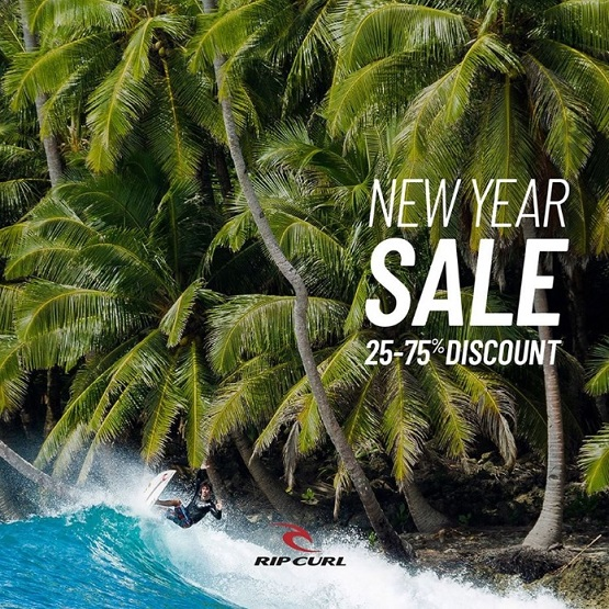 New Year Sale at Rip Curl. 25-75% Discount.