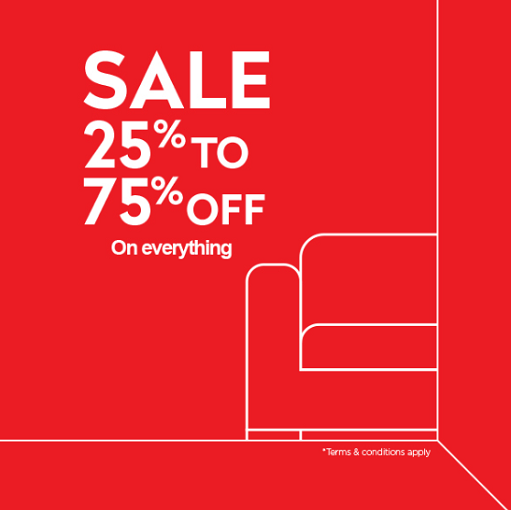 DSF Sale 25% - 75% off. Explore the Mega Sale at IDdesign stores and get up to 75% off on furniture and accessories on your wish list.