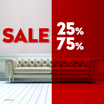 SALE 25% to 75% on our unique furniture & accessories at Chattels & More Dubai showroom.