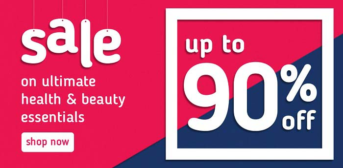 SALE on ultimate Health & Beauty essentials Up To 90% Off @ BinSina Pharmacy