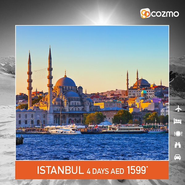 Cozmo Travel - Istanbul Tour. Winter special packages starting from AED 1599*.