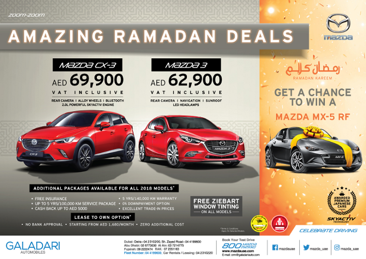 Mazda UAE - Amazing Ramadan Deals.