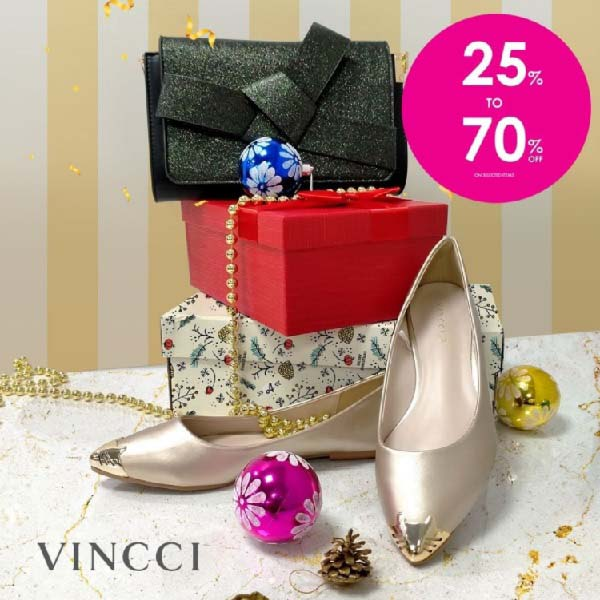 Get up to 70% off at Vincci End of Season Sale!