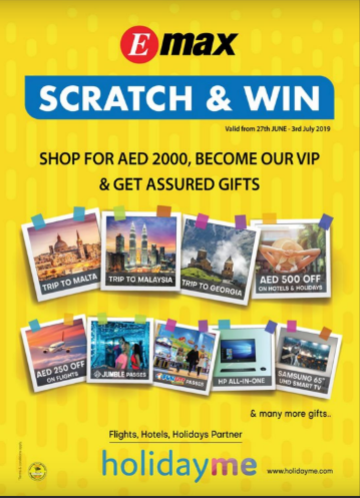 Emax Scratch & Win - Shop for AED 2000, become our VIP & get assured gifts. Hurry up, limited time offer only.