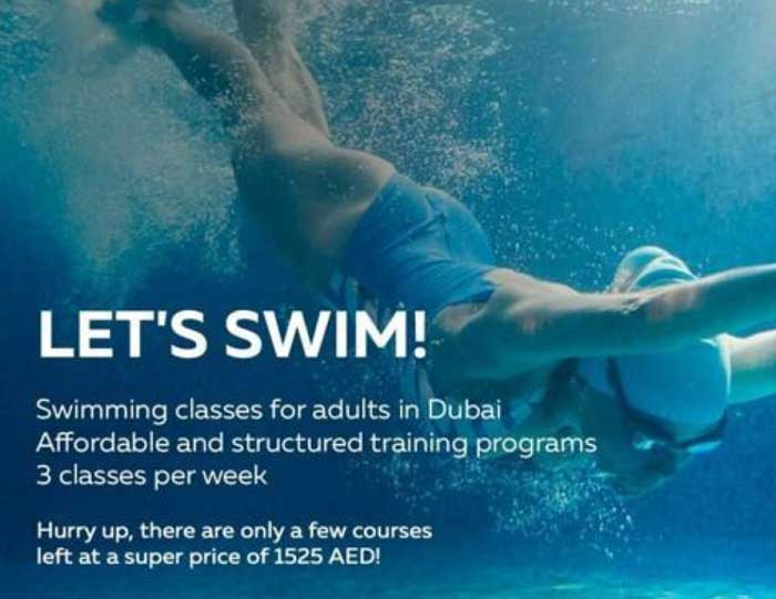 I Love Supersport - Swimming Classes for adults. only a few courses left at a super price of 1525 AED