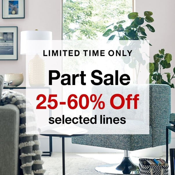 Spring Savings: 25%-60% off selected lines at Crate&Barrel stores and online