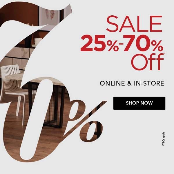 SALE 25% to 70% Off @ Home Centre. Available online & in-store.