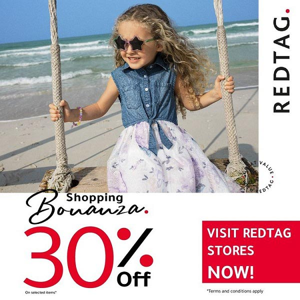 Shopping Bonanza. 30% Off on Selected Items @ Redtag.  T&C Apply