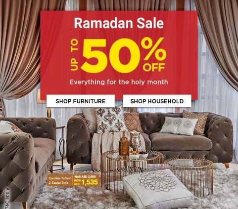 Ramadan Sale @ Home Box. Up to 50% Off  Everything for the holy month.
