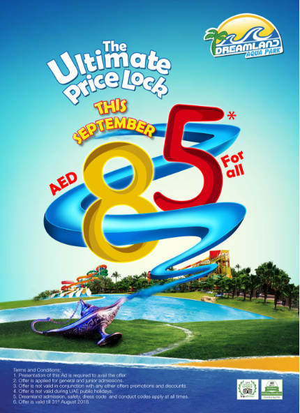 Dreamland Aqua Park - The Ultimate Price Lock. Offer valid till the end of September, 2018.