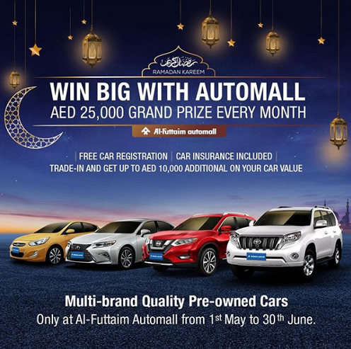 Win BIG with Al-Futtaim Automall. Buy a quality pre-owned car and stand a chance to win AED 25,000.