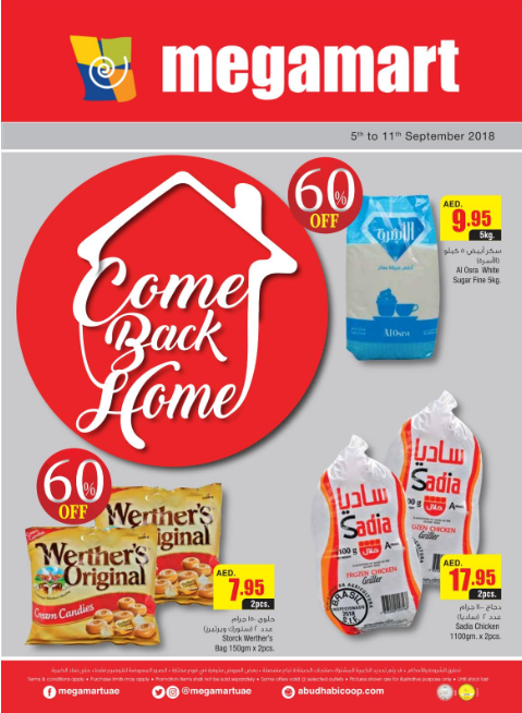 Megamart Come Back Home offers. From 5th to 11th September 2018.