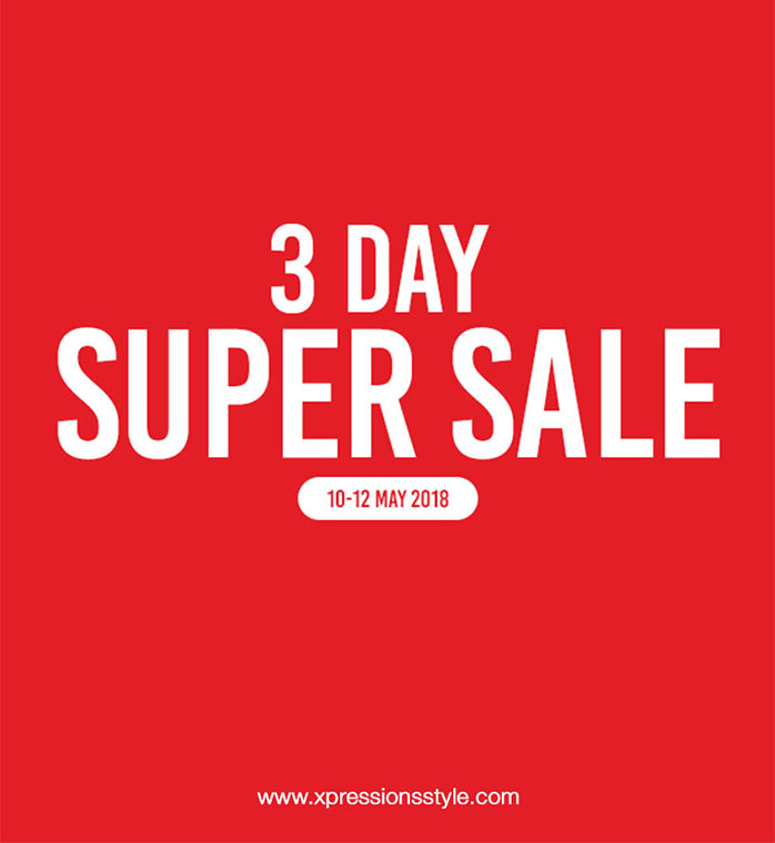 Shop #perfumes  & #cosmetics  at amazing offer prices at Xpressions style's 3 Day Super Sale! Visit www.xpressionsstyle.com from 10th - 12th May, to get incredible offers on Perfumes & Cosmetics. Available in selected Xpressions style's Dubai outlets as well.