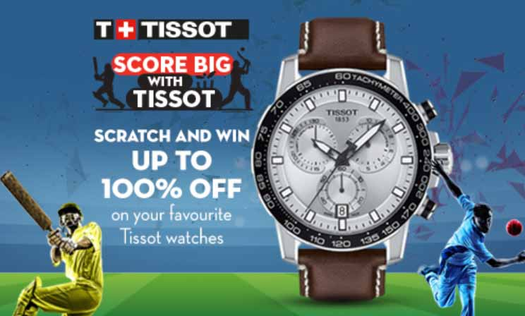 Tissot 'Scratch & Win' is now on.  Get up to 100% off on Tissot watches in UAE.  Visit Tissot boutique, Rivoli and HourChoice stores to Scratch and Win BIG!   Applicable from 19th September to 10th November. T&C's Apply