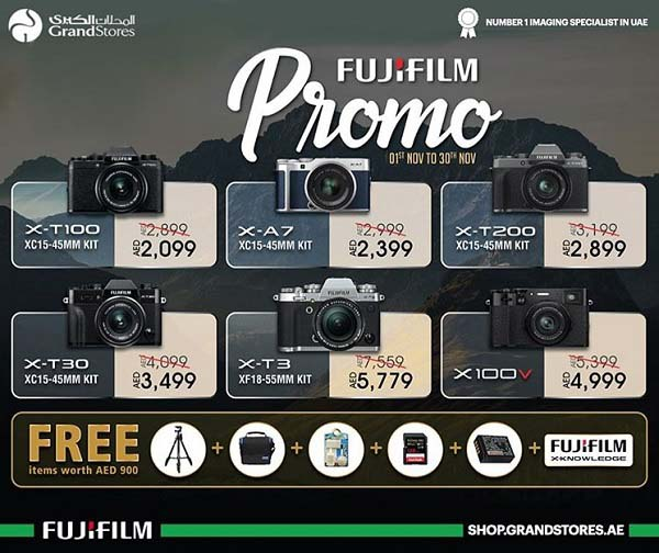 Don't miss out on this exclusive Fujifilm promo available until the 30th November 2020 @ Grand Stores Digital
