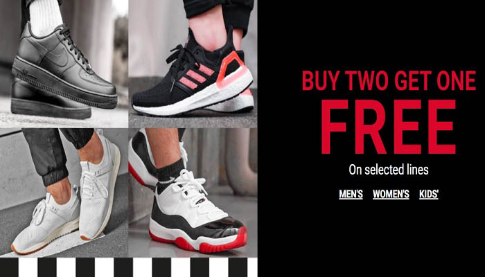 Buy 2 Get 1 Free on Selected lines @ Foot Locker