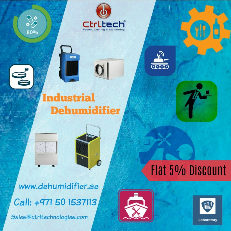 CtrlTech - Flat 5% discount on all industrial dehumidifier, commercial dehumidifier and desiccant dehumidifier