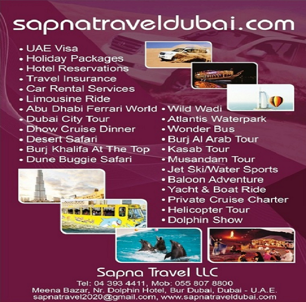 Sapna Travel - Best Deals on Air Tickets, Dubai Visa, Hotel Booking, Holiday Packages