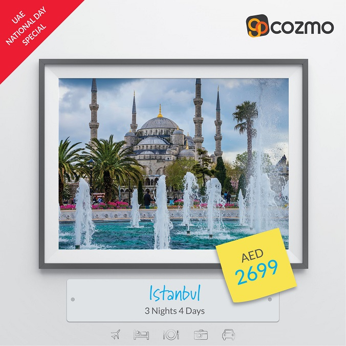 UAE National Day Special.  Visit Istanbul - 3 Nights AED 2,699. Book Now @ Gocozmo.com