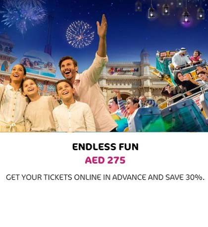 Endless Fun AED 275. Get your Ticket Online in Advance and Save 30% @ Bollywood Parks Dubai