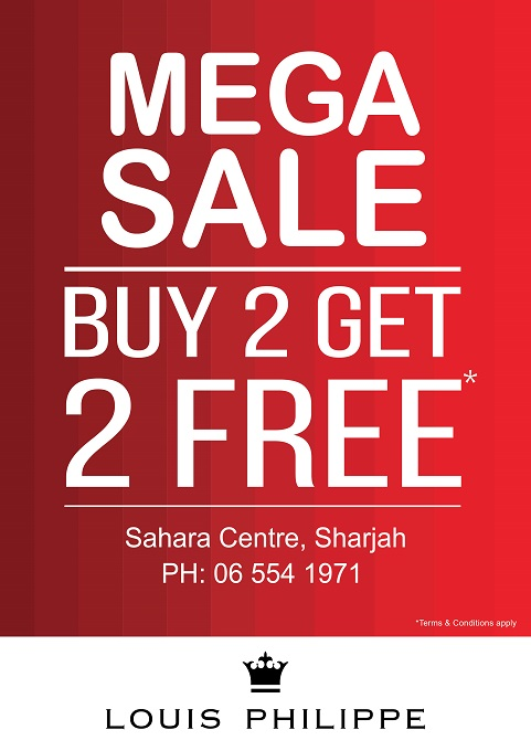 Louis Philippe - Mega Sale. Buy 2 Get 2 Free*. T&C apply