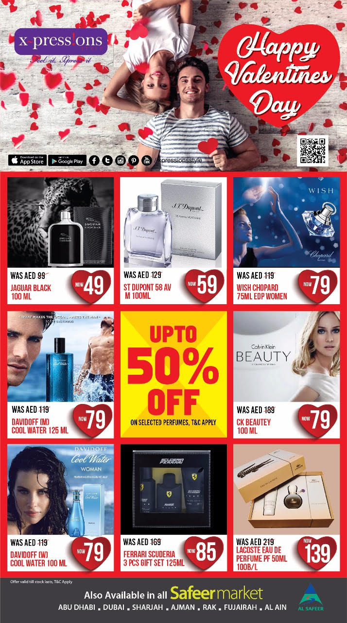 Xpressions Style - Up to 50% OFF Valentine's Day Sale on selected items. Offer Valid from 13th February to 17th February 2018.