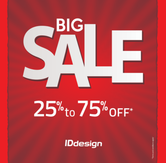 BIG SALE 25% TO 75% OFF. Enjoy SALE up to 75% off on all furniture & accessories at IDdesign Dubai showrooms.