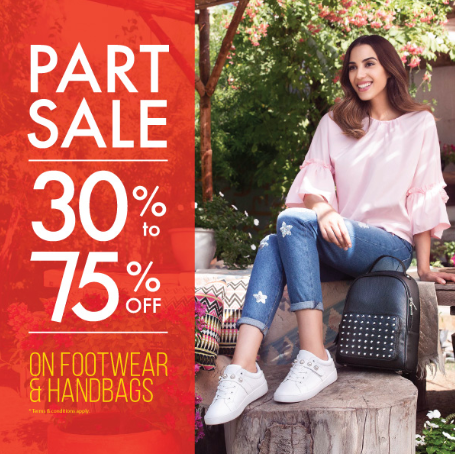 Shoexpress - PART SALE is ON! Up to 75% OFF on amazing range of footwear and bags!