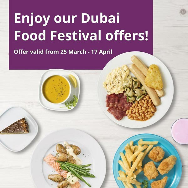 Your favorite food offers are back for the Dubai Food Festival! Join the celebration at IKEA Jebel Ali or Festival City stores and indulge in the tastiest meals for the whole family. Offer valid till 17th April 2021