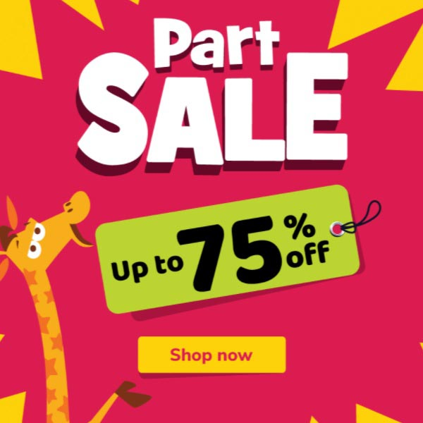 Part Sale. Up To 75% Off @ Toys R Us