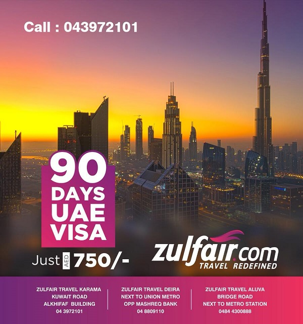 Zulfair Travel - Ramadan Offer. 90 Days UAE visa for just AED 750.