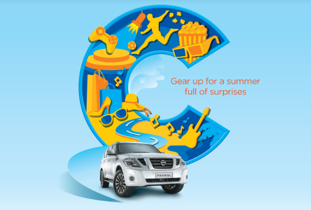 City Centre Mirdif - Gear up for a summer full of surprises. Shop for AED 300 for the chance to drive away in a Nissan Patrol 2018.* July 22 – August 4.  *Terms and conditions apply.