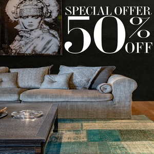 Enjoy 50% off across all furniture & decor. This special offer is Exclusive to Marina Home showroom