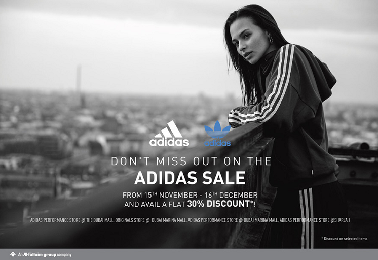 Don't miss out on the Adidas Sale for a flat 30% discount  until 16th December. *Discount on selected items.