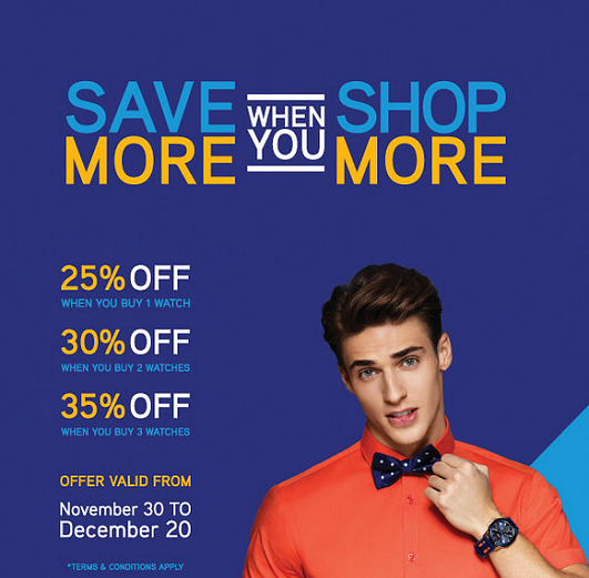 1915 by Seddiqi & Sons - Save More When You Shop More. Offer valid from November 30 to December 20. T&C apply.