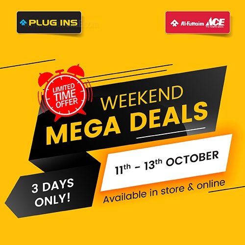 PLUG INS - Weekend Mega Deals. 3 days only! 11th - 13th October. Available in store & online.