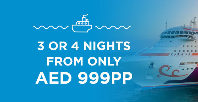 Excellent value weekend and Eid cruise packages from only AED999 Per Person. Hurry up and start your bookings now!